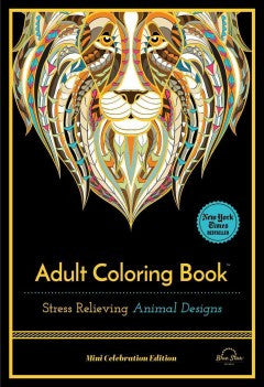Stress Relieving Animal Designs: Adult Coloring Book: Mini Celebration Edition