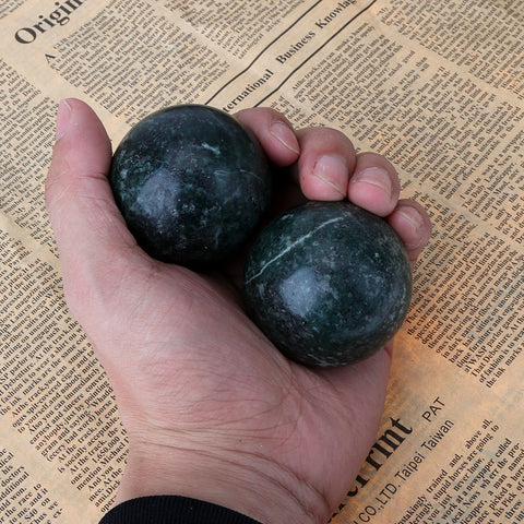 1pair Hand Natural Stone Massage Health Balls