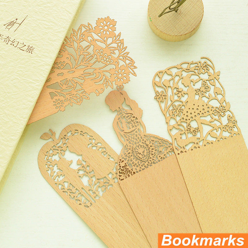 Wooden Bookmarks (6PCS)