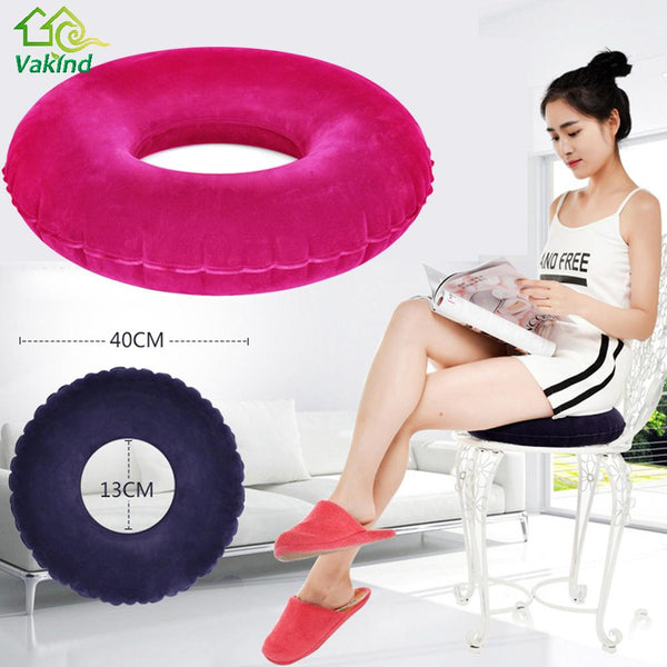 Hemorrhoid Pillow Sitting Donut-  Inflatable Round Cushion Vinyl Seat Pillow