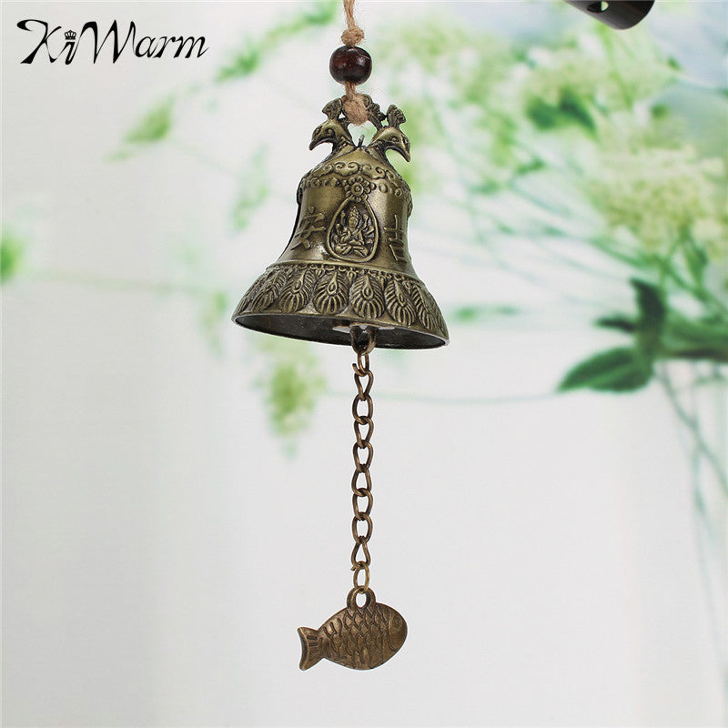 Retro Hanging Wind Chime Chinese Bell - Blessing, Good Luck, Fortune, Peacock