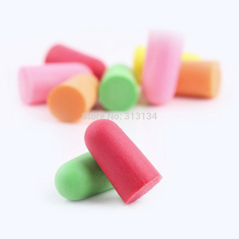 2pair Candy Color Soft Foam Ear Plugs Tapered - p pairTravel Sleep Noise Prevention Earplugs Noise Reduction For Travel Sleeping Hot