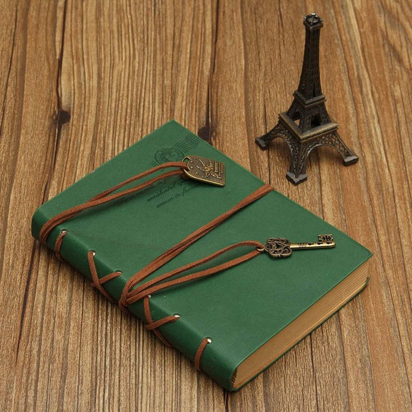 Vintage Retro Classic PU Leather Blank Pages Notebook Journal Diary