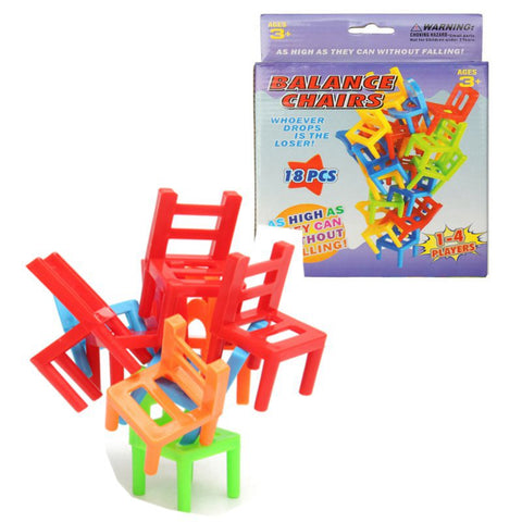 Plastic Balance Toy Stacking Chairs Desk Playing Game