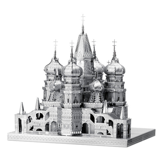 3D Metal Puzzles model Saint Basil's Cathedral church
