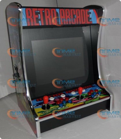Desk Arcade Game Machine With 2100 in 1 multi game board for 2 Player 19 inch LCD