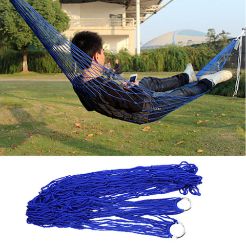 Hammock Garden Portable Nylon Hang Mesh Net Sleeping Bed