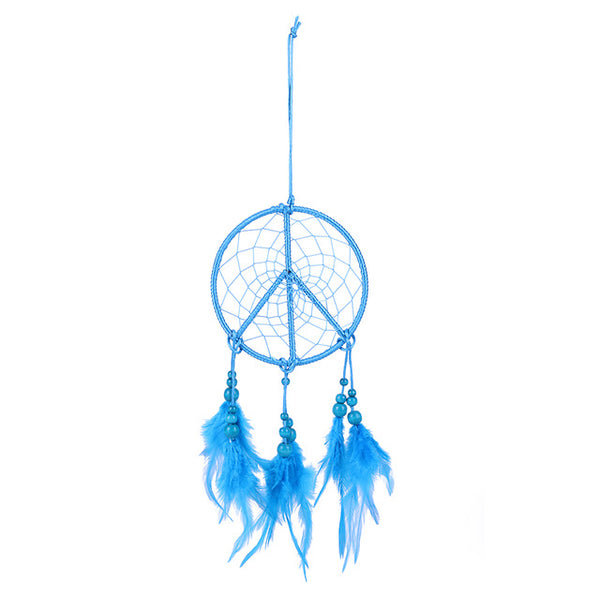 Handmade Blue Feather Dream Catcher Wind Chimes