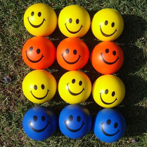 Happy Fun Toy Mini Neon Lovely Smile Face Relaxation/ Stress ball