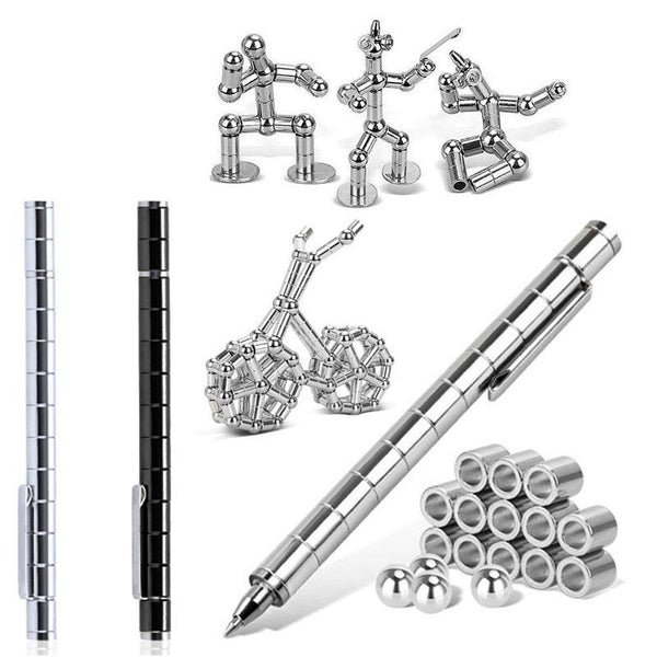 Fidget PEN Polar Capacitor Magnet Think Ink Pen
