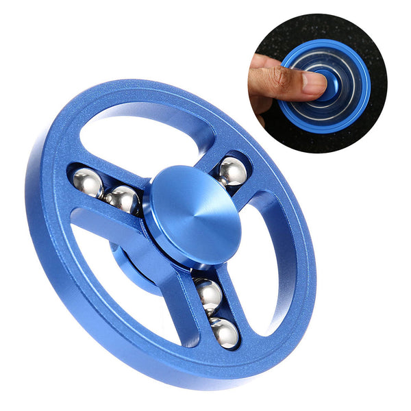 Hand Spinner With Steel Ball Metal Circular Tri-Spinner Fidget