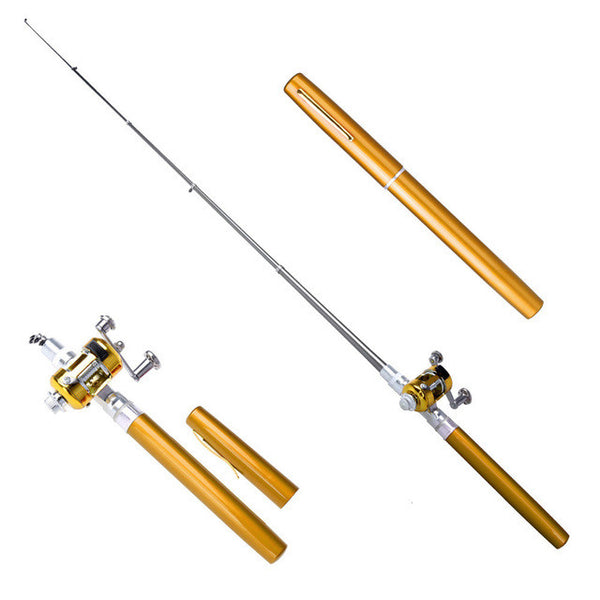 Portable Pocket Aluminum Alloy Ultra light spinning Rod