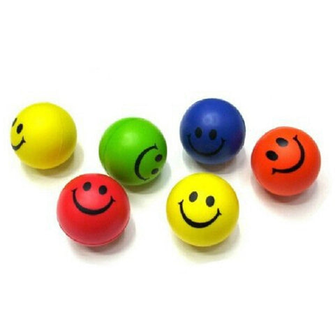 Mini Neon Smile Face Relaxable Ball - I pc