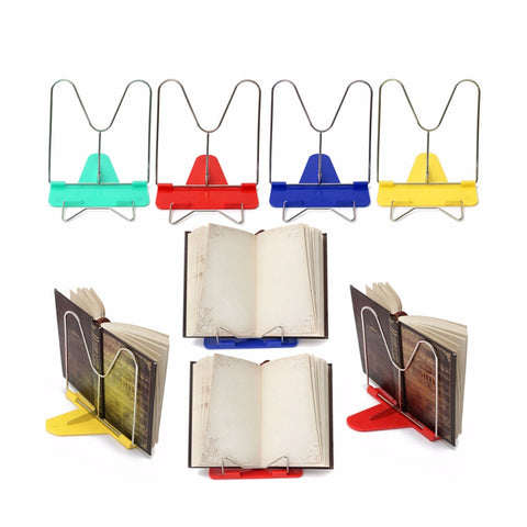 Portable Book Stand Adjustable Angle Foldable Reading Book Stand
