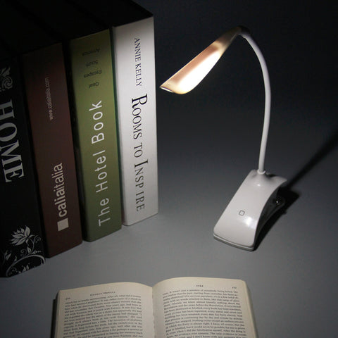 USB / Battery Power Clip on LED Table Desk Lamp Light 28 LED Bedside Book Reading Lamp for Bed