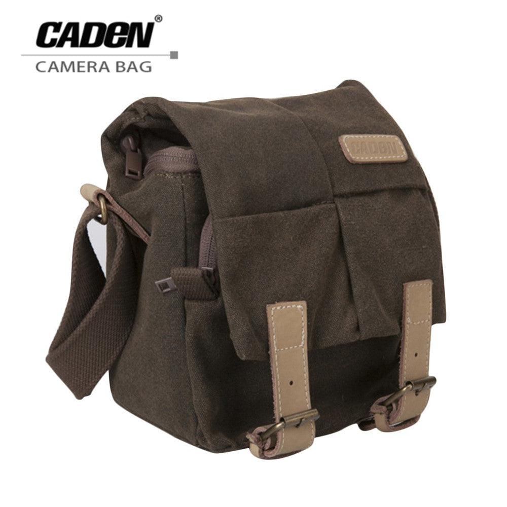 Single Shoulder Camera Bag Waterproof Canvas Vintage Messenger Shoulder Bag with Zipper Closure for DSLR Camera