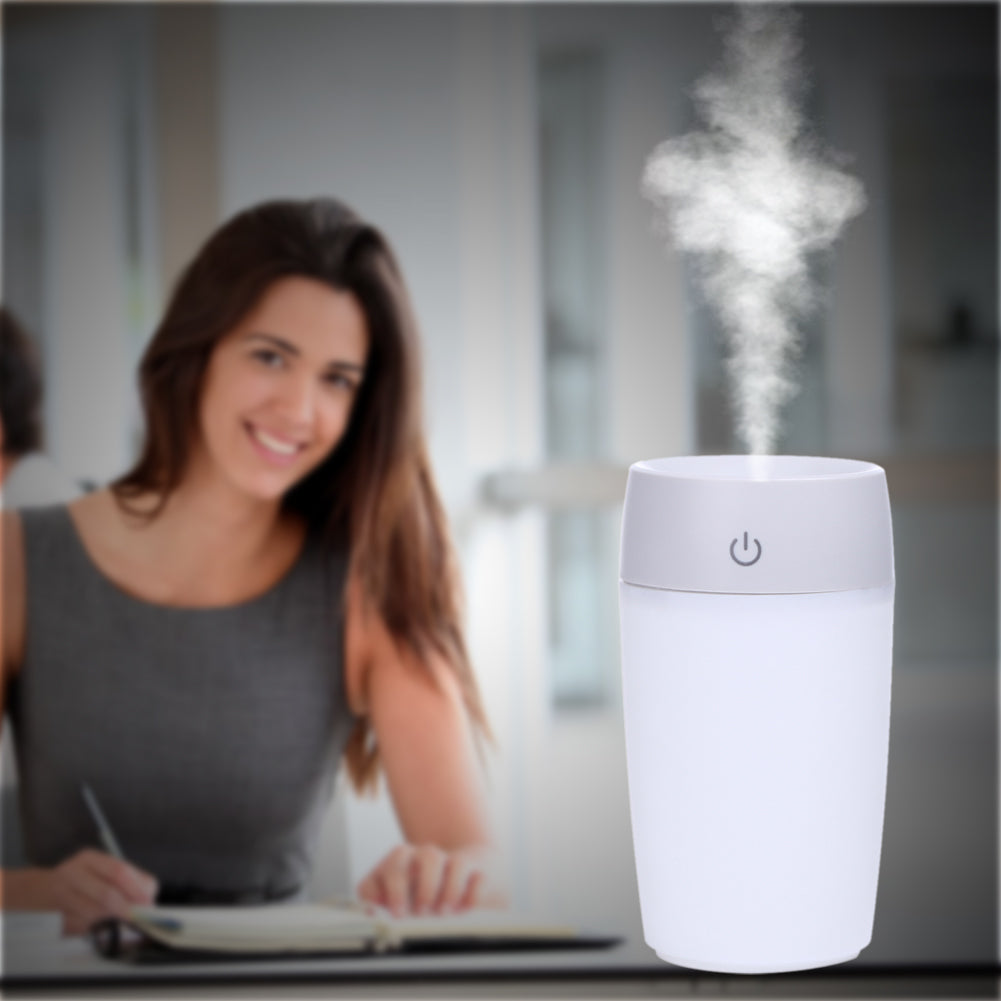 Cup humidifier Mini Quiet Horizontal Air Purifier Diffuser Mist Maker Fogger Purification