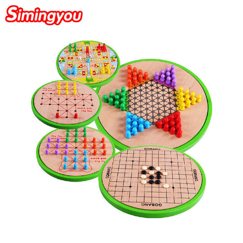 Five-in-one Checkers Backgammon
