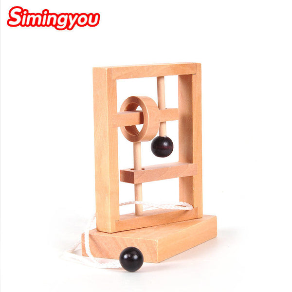 Simingyou Wooden Montessori Space Thinking Threading Solution