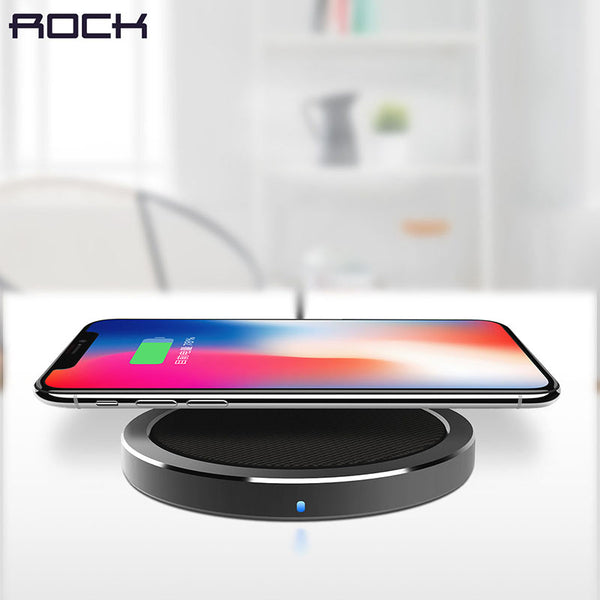ROCK Qi Wireless Charger For iPhone X 8 plus, Fast Wireless Charger for Samsung Galaxy Note 8 S8 S7 edge S6 Qi-Enabled Devices