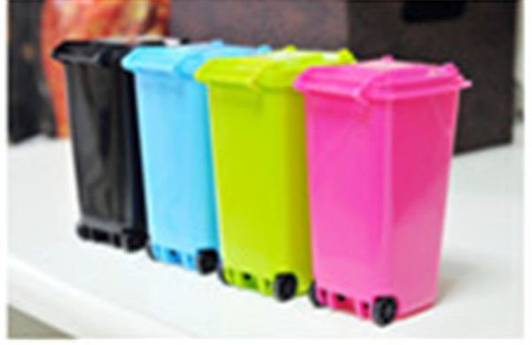 Organizer Boxes Colorful - look like miniture garbage cans