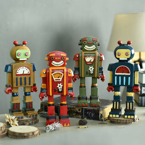 European style Retro Robot Handicraft Cartoon Machine