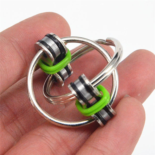 Fidget Hand Spinner Key Ring 5 Colors Spinning Top