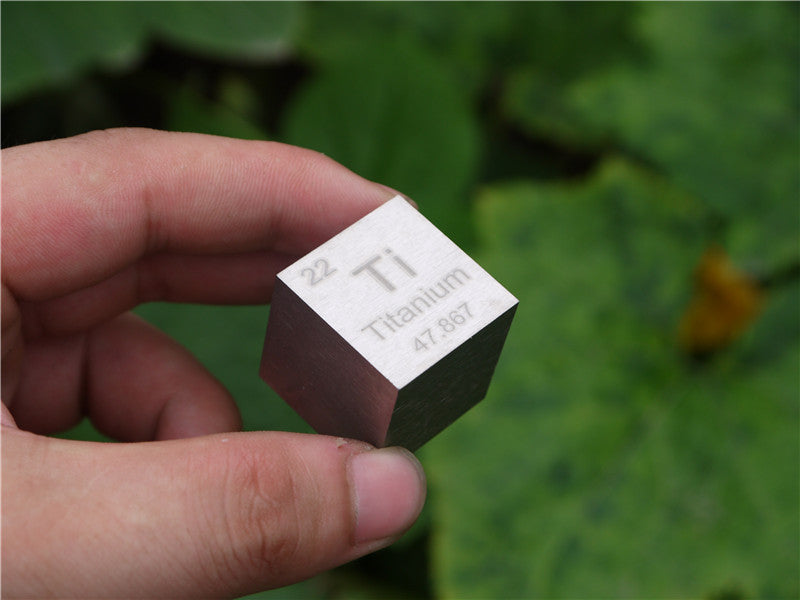 Titanium  cubic square inch cube Paperweight cycle phenotype Ti = 99.5%