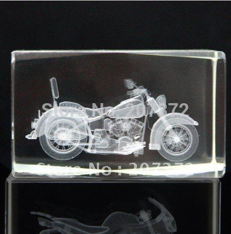 5*5*8cm Crystal Glass Cube With 3d Laser Moto For Crystal Paperweight