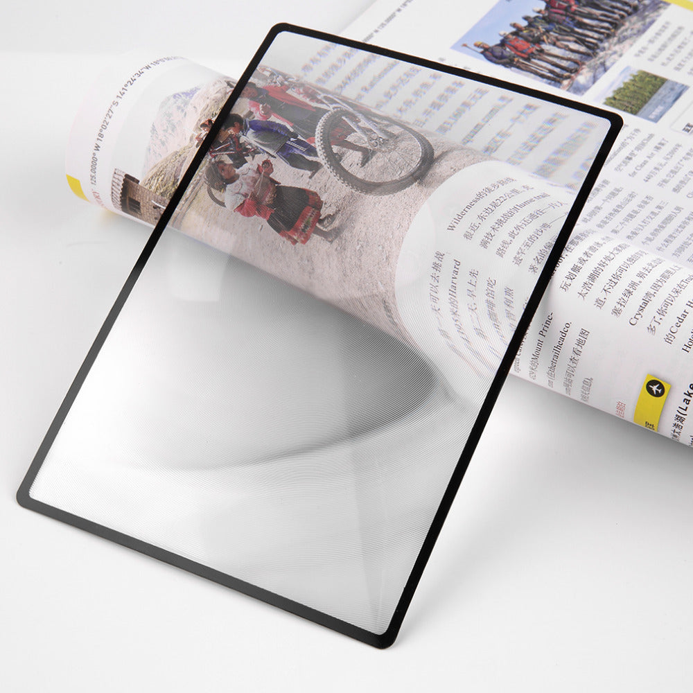 Flat PVC Magnifier Sheet X3 Book Page Magnification Reading Glass