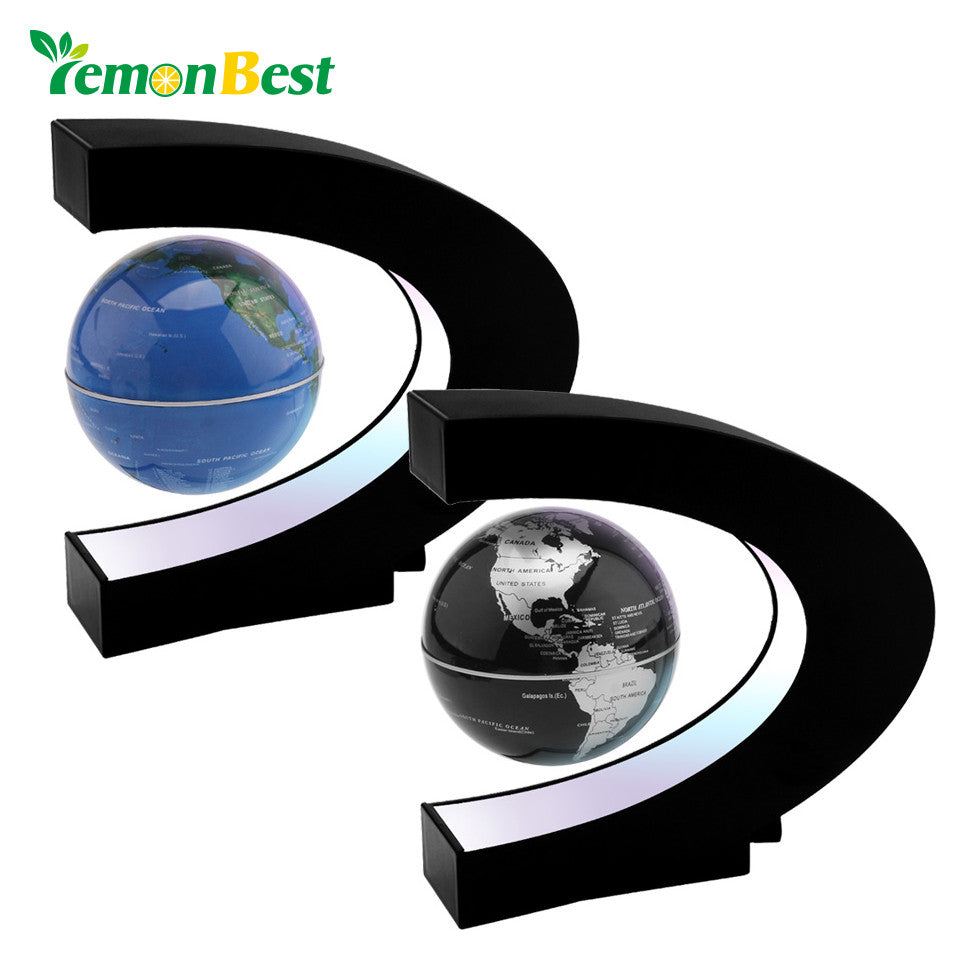 Lemonbest C Shape Electronic Magnetic Levitation Floating Globe World