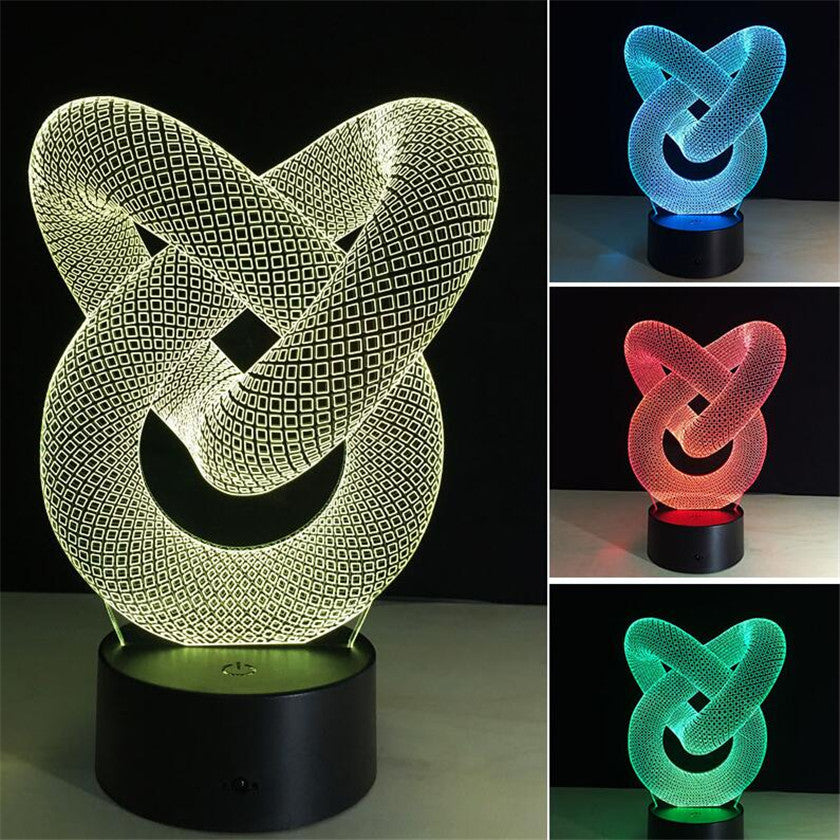 7 Colors Table Lamps 3D Night Light Touch