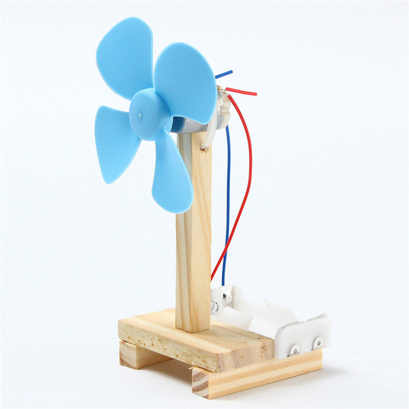 Mini Cute Wood DIY Small Fan Assembly Model Kit