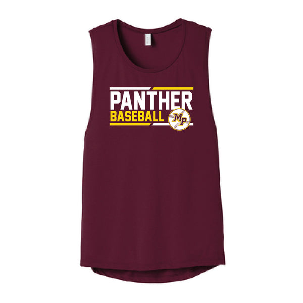 MP Baseball Club 2019 Women's Flowy Scoop Muscle Tank