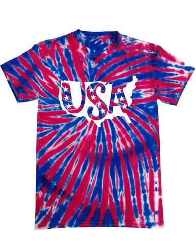 USA Tie Dye Graphic Tee