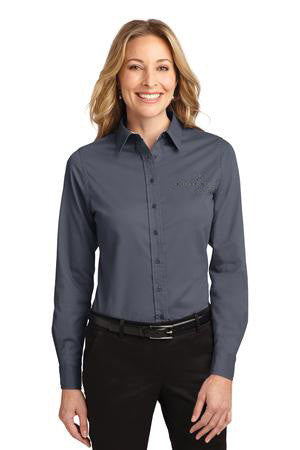 Hearth & Home Ladies Button Down Dress Shirt