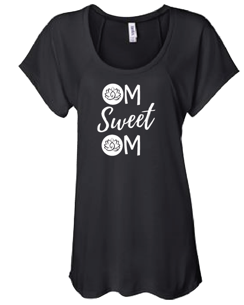 Blissed Out Movment Ladies Short Sleeve - OM SWEET OM