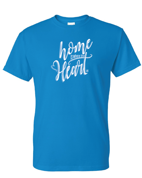 Home is Where the Heart Is Tshirts Sapphire