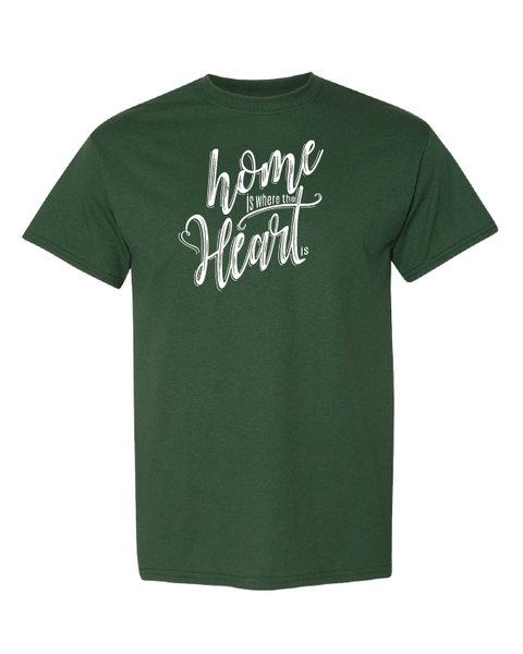 Home is Where the Heart Is Tshirts Sport Dark Green
