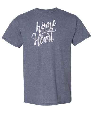 Home is Where the Heart Is Tshirts Heather Sport Dark Navy
