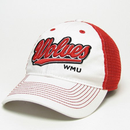 WMU Red/White Legacy Hat
