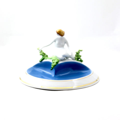 Fine China Porcelain Sitting by Spring Figureine - Gifts by Kasia - 1