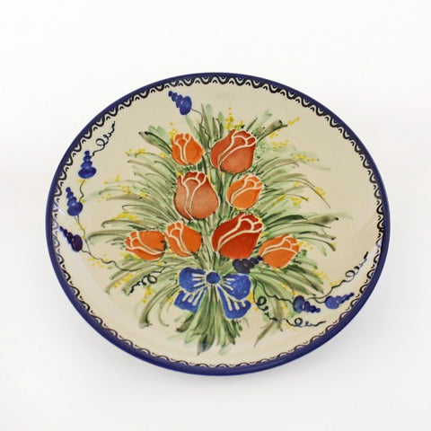 Handmade Ceramic Tulips Dessert or Salad Plate - Gifts by Kasia