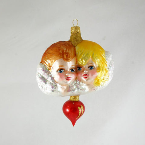 Boy and Girl Angels Christmas Ornament - www.giftsbykasia.com - 1