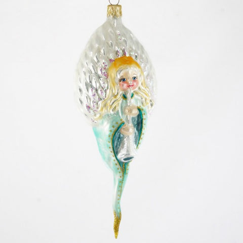 Angel with Trumpet Ornament - www.giftsbykasia.com