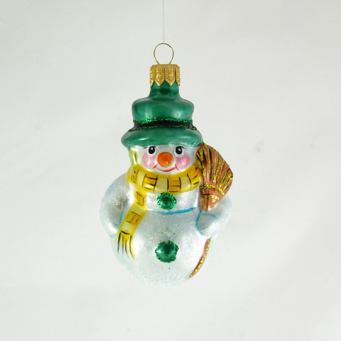 Snowman in Green Hat Christmas Ornament - www.giftsbykasia.com - 1