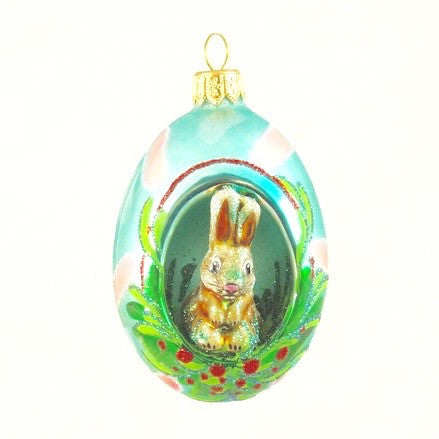 Egg with Bunny Christmas Ornament - www.giftsbykasia.com - 1