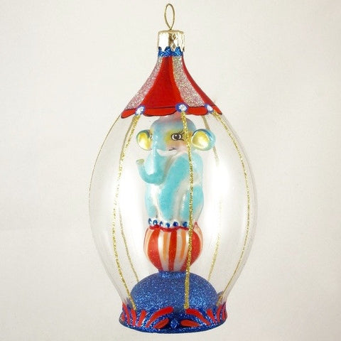 Dome with Blue Elephant Christmas Ornament - www.giftsbykasia.com - 1