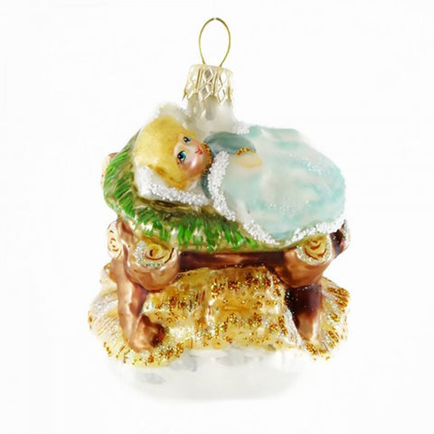 Baby Jesus in Manger Ornament - www.giftsbykasia.com - 1