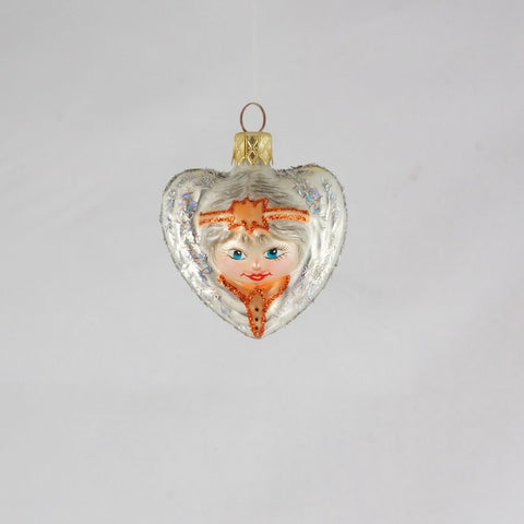 White Angel Heart Ornament - www.giftsbykasia.com - 1